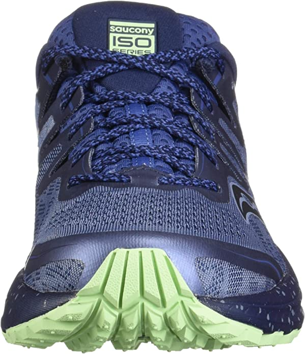 Saucony Guide ISO 2 TR Womens Trail Running Shoes Blue//Green