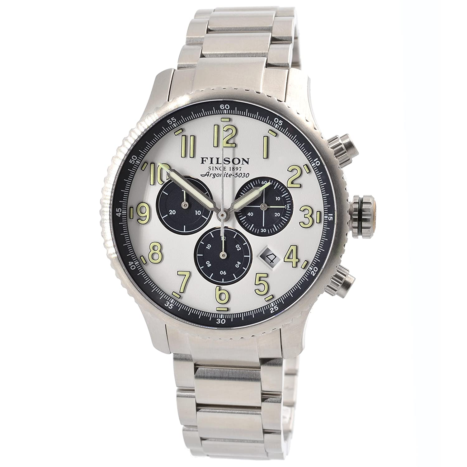 Filson Men s Shinola Mackinaw Field Stainless Steel Watch 11000313   Amazon.co.uk  Watches 7d34221a57