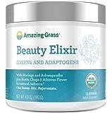 Amazing Grass Beauty Elixir, Greens and Adaptogens Organic Powder, 20 Serving Tub, 4.9 oz