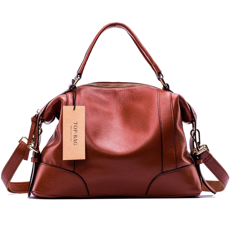 TOP-BAG Lovely Women Ladies' Genuine Leather Tote Bag Handbag Shoulder Bag, SF1006