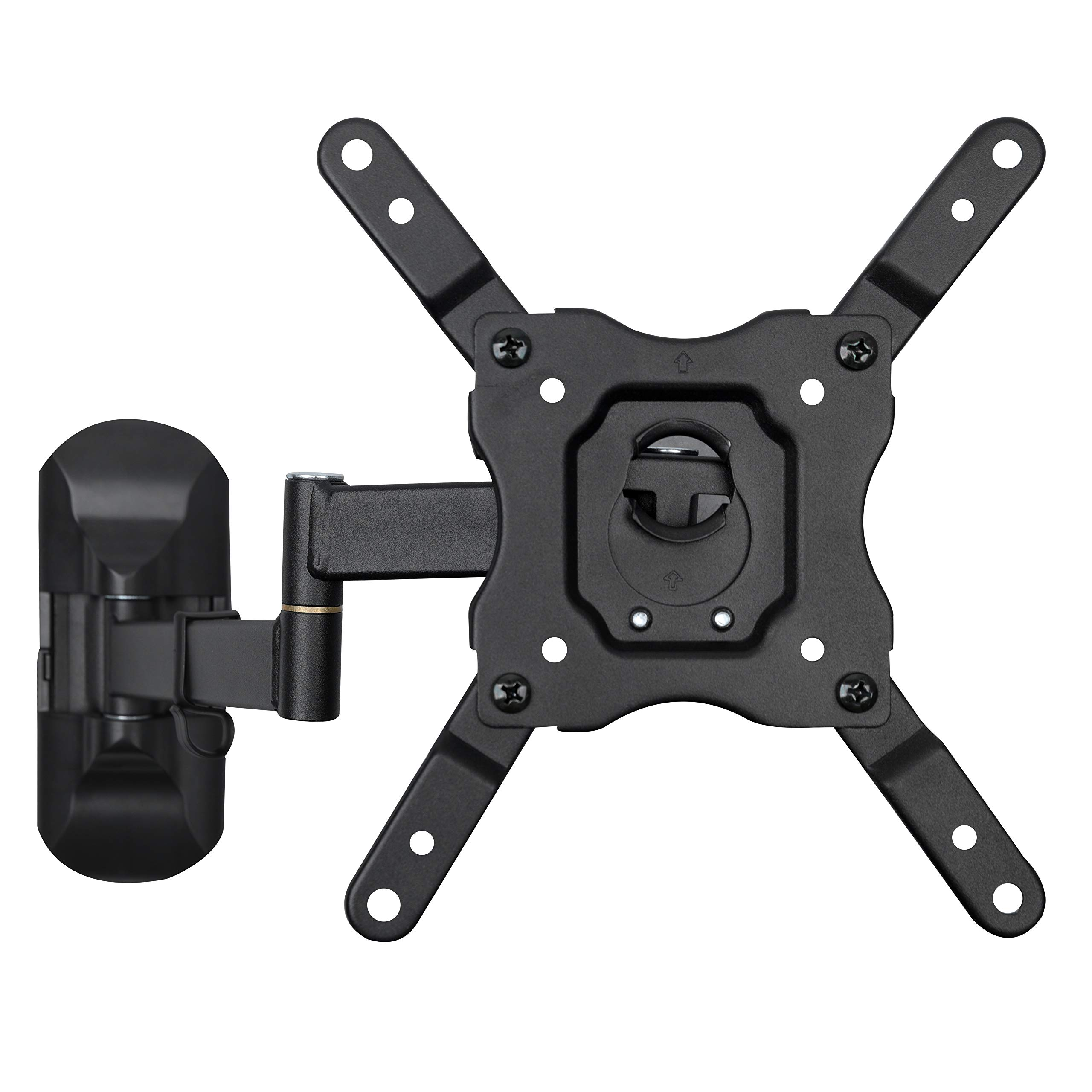 DYNAVISTA Full Motion TV Wall Mount Bracket with Tilting Swivel Articulating Arm up to VESA 200 x 200 mm and 55 lbs for 12 to 40 inch TV Flat Screens and Monitors (Black)