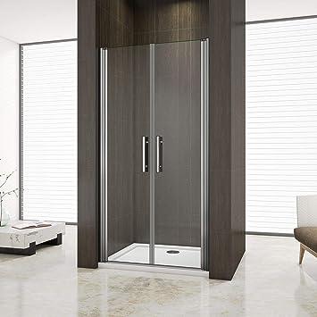 Mampara de ducha con puerta doble para salón, plato de ducha: Amazon.es: Bricolaje y herramientas