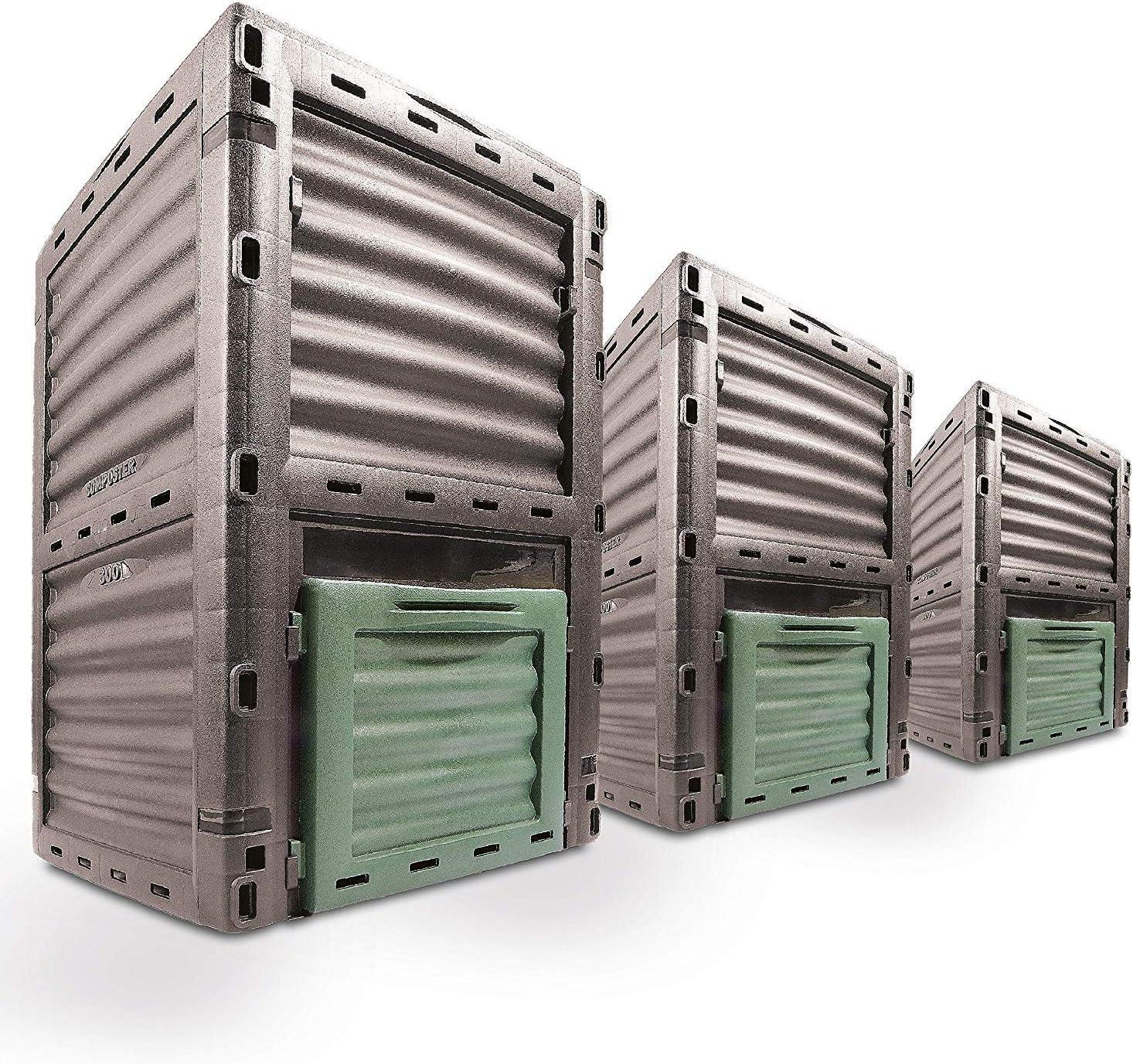 leicht 420 Liter gro/ßer Kompostbeh/älter Schaffen Sie fruchtbaren Boden mit einfacher Montage bel/üftete Kompostbox f/ür den Au/ßenbereich D.F Omer Garten-Komposter aus recyceltem Kunststoff
