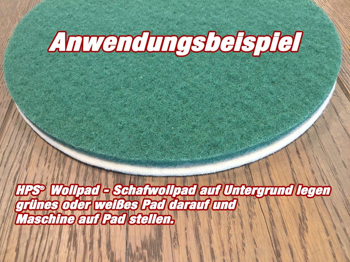 /Polishing Pad Diameter 30/cm PU Epoxy Sealed Parquet Laminate Lino and Vinyl HPS/® Set of 4/pads/ Marble and Granite Polishing Bath for Oiled Flooring OVERMAT Polisher Floorboy 300//&ndas /Sheeps Wool/