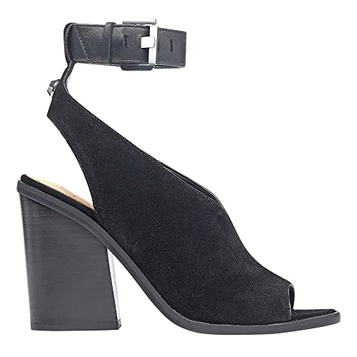 Marc Fisher Womens Vidal2 Suede Open Toe Casual Ankle Black suede Size 80