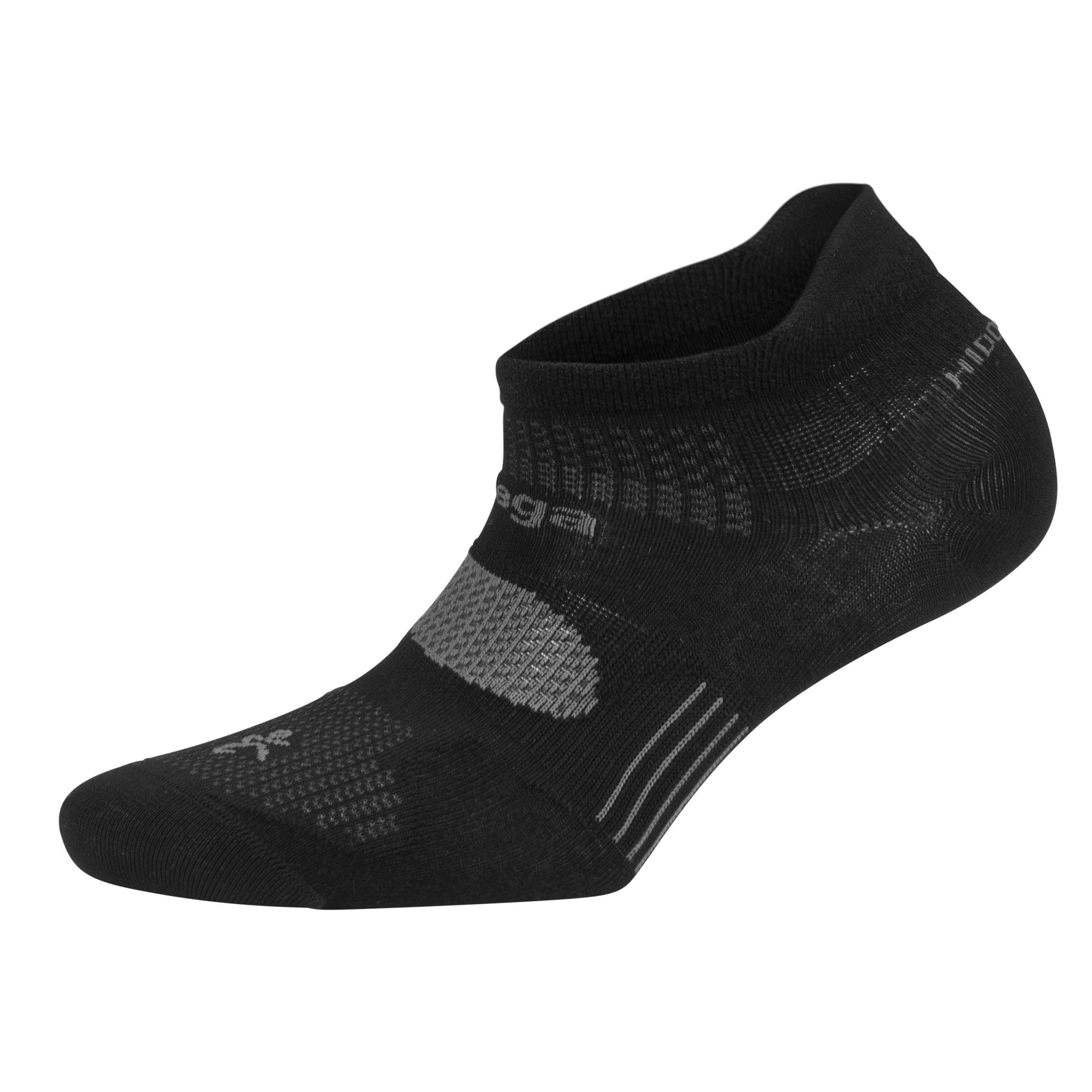 Balega Hidden Dry Moisture-Wicking Socks For Men and Women (1 Pair), Black, Large
