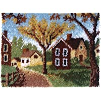 Spinrite Wonderart Latch Hook Kit, 20 by 27-Inch, Country Cottages