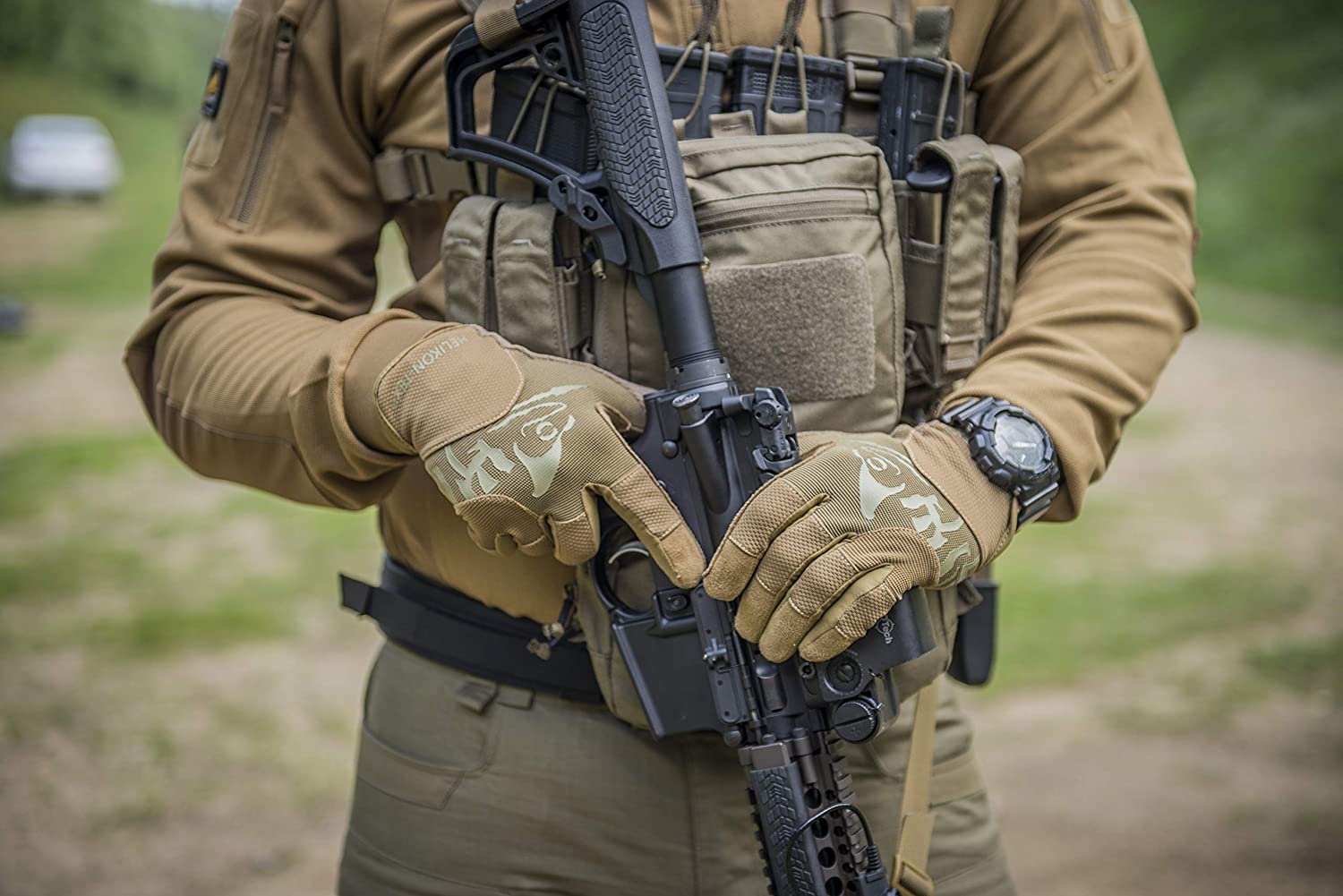 Helikon-Tex Range Tactical Gloves Handschuhe Touch Multicam Coyote