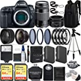 Canon EOS 5D Mark IV 30.4 MP DSLR Full Frame Camera Body with EF 50mm F1.8 STM Lens + EF 75-300mm F4-5.6 III Lens Kit…