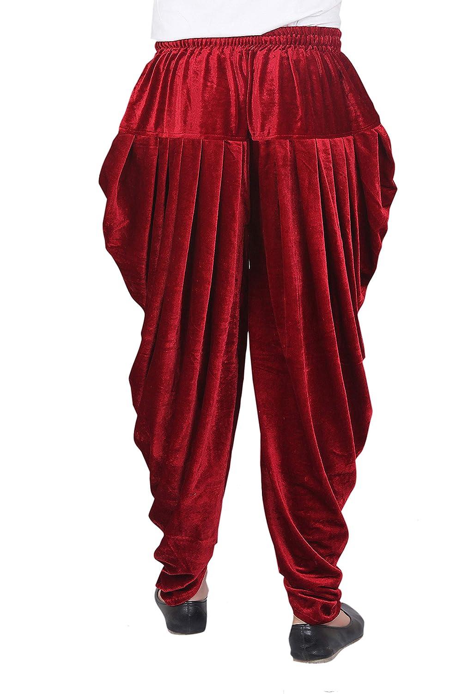 Patiala-Pants-Salwar-fuer-Maenner-Samt-elastischer-Bund-handgefertigt-laessig-Wear Indexbild 9
