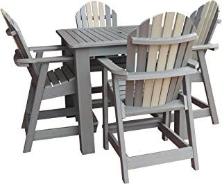 product image for Highwood 5 Piece Hamilton Square Counter Height Dining Set, Glacier
