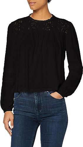Superdry Ellis Lace LS Top Camiseta Manga Larga para Mujer
