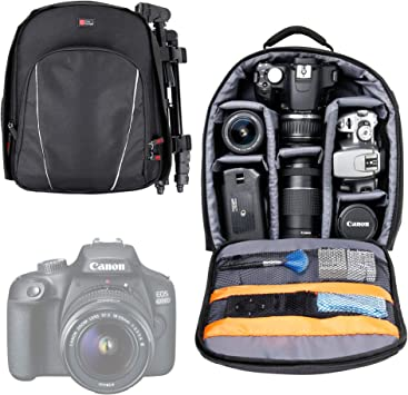 DURAGADGET Negro y Gris Mochila para Canon EOS 1300d|1200d|1100d ...
