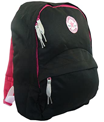 94a4918496 Amazon.com   Converse Kids Backpack - Jet Black / Pink - Converse ...