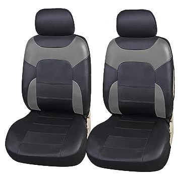 Komplettsatz Sitzbezüge Polyester Schonbezüge Schwarz für Hyundai Honda Mazda