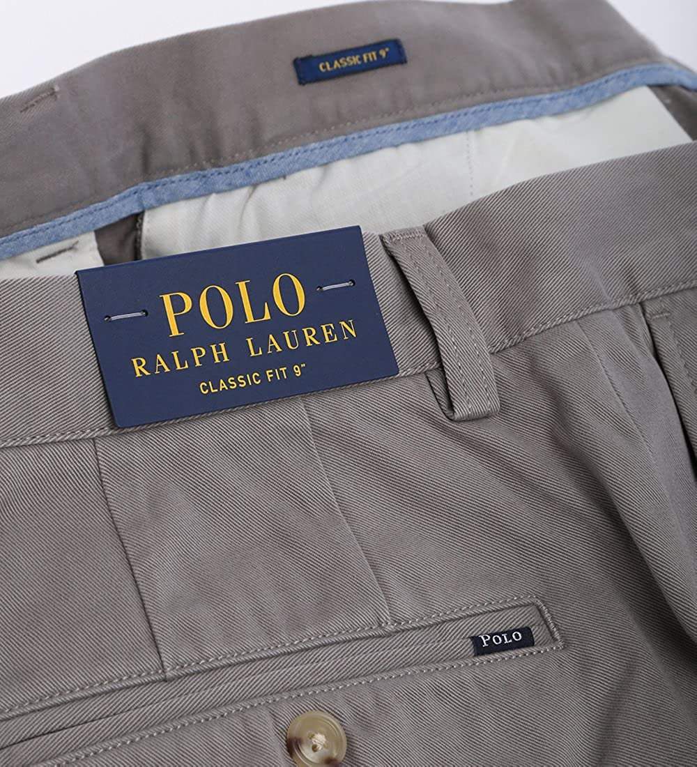 Ralph Lauren Polo Chino Short classic fit 9 Inch kurze Hose Bermuda grau  Größe 32  Amazon.de  Bekleidung 5ae90e22cb