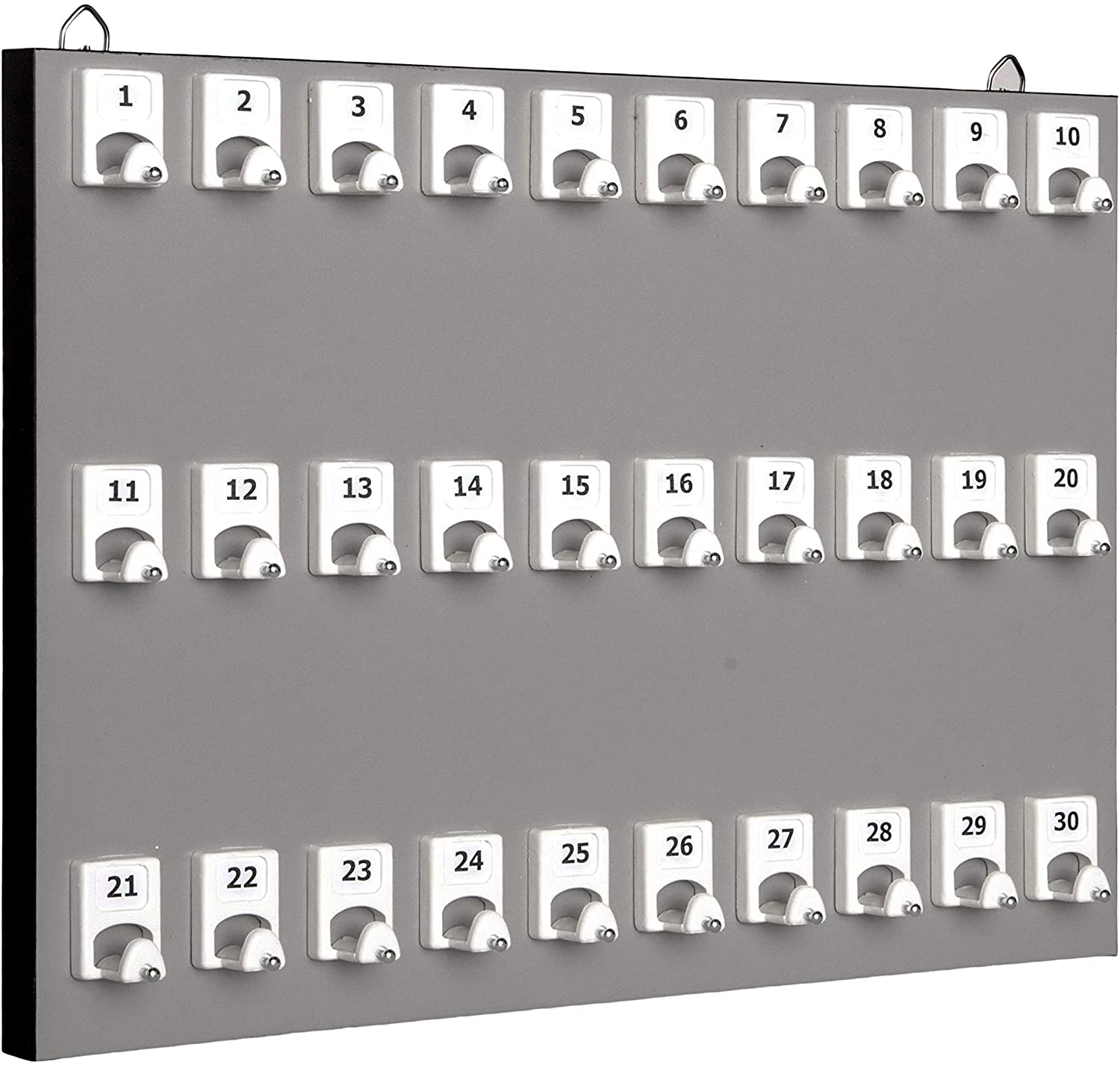 KEYSTAND # 30PGS with 30 Numbered Hooks for Real Estate Offices & Rentals (30 Sets of Tag & Ring Included)