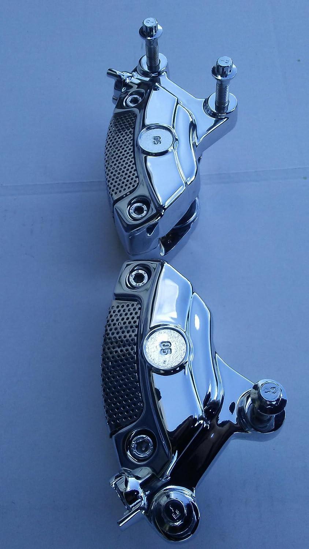 Harley Davidson OEM Chrome Brembo Front Brake Calipers Assembled 2008-18
