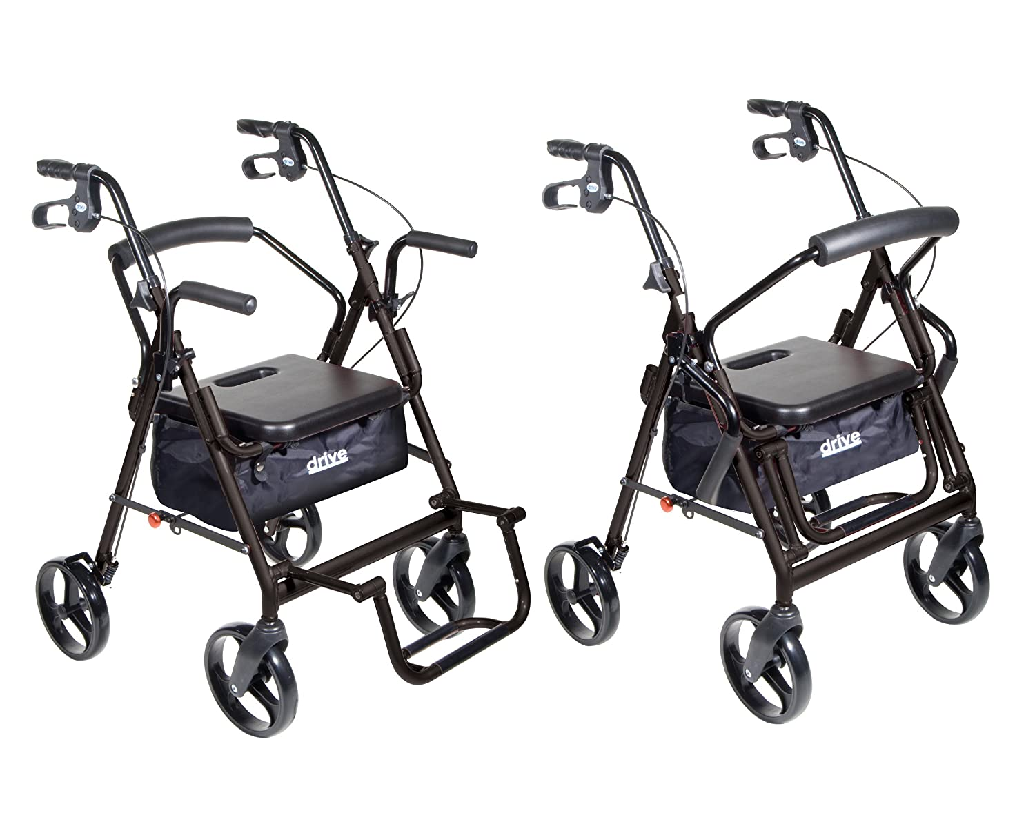 Transport chair amazon - Amazon Com Drive Medical Duet Dual Function Transport Wheelchair Walker Rollator Black Health Personal Care