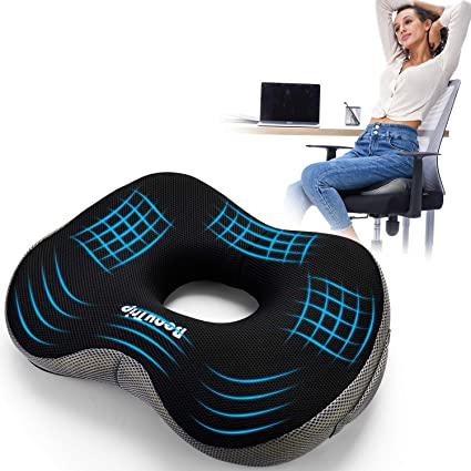 Beautrip Memory Foam Seat Cushion Ergonomic Seat Pad For Office Chairs Wheelchairs Dining Chairs Armchairs Car Seats Increases Seat Comfort Chair Cushion With Carry Bag And Non Slip Rubber Base Amazon De Kuche