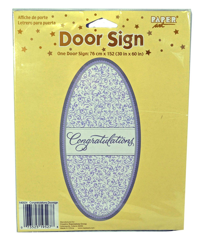 Congratulations Door Cover Sign Wedding Shower Party Decoration