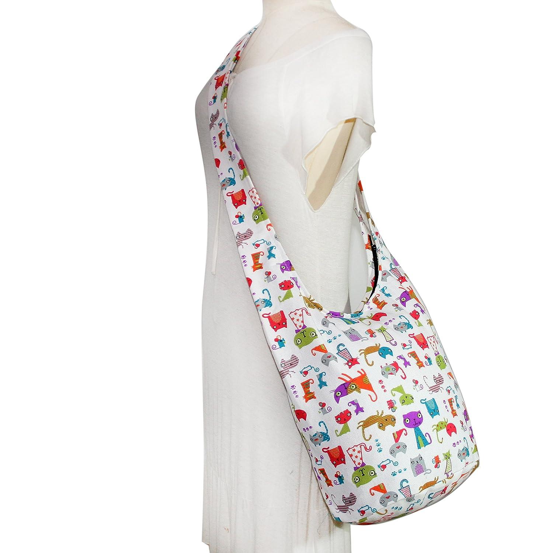 9af51e0bfdd2 ... Amazon.com Tonka Cat Cartoon Hippie Bag Shoulder Sling Crossbody  Handbags Messenger Bags Purses Messenger ...
