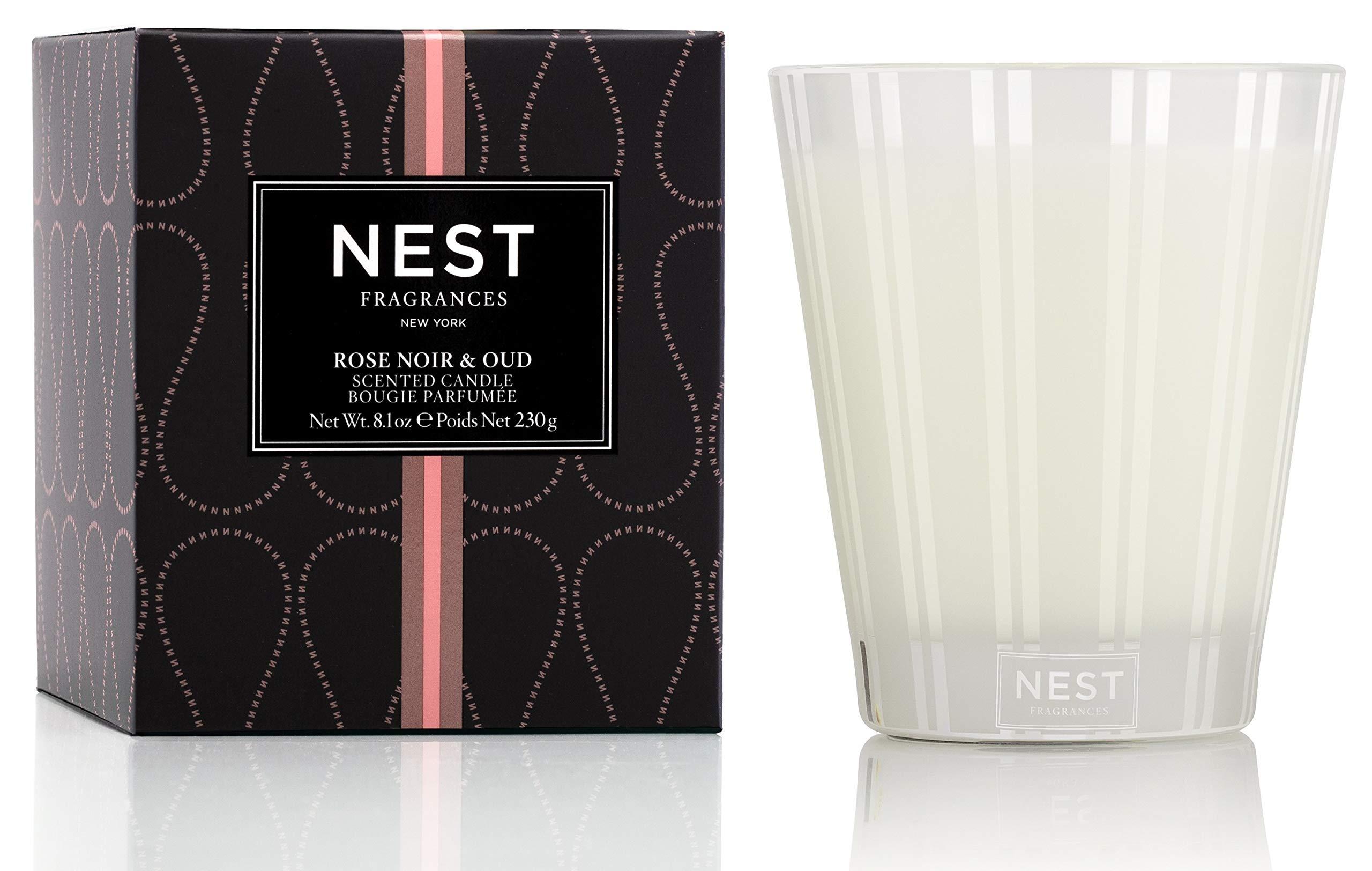 NEST Fragrances Classic Candle Rose Noir & Oud 8.1 oz 8 Ounce
