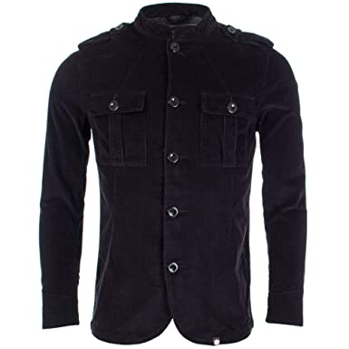 da095e78a38c3e Pretty Green - Crawley Cord Jacket, Black: Amazon.co.uk: Clothing