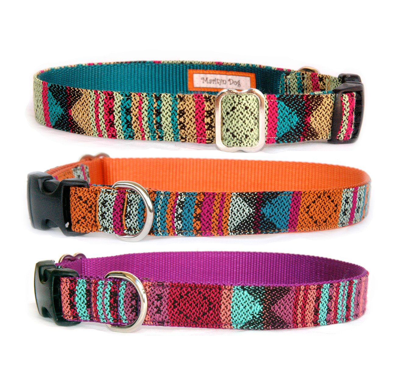Home collars blueberry pet dog collar nautical flags inspired -  Bohemian Southwest Navajo Tribal Native American Influenced Designer Dog Collar For Small Dogs And Large Dogs Purple Orange Dog Collar Pet Supplies
