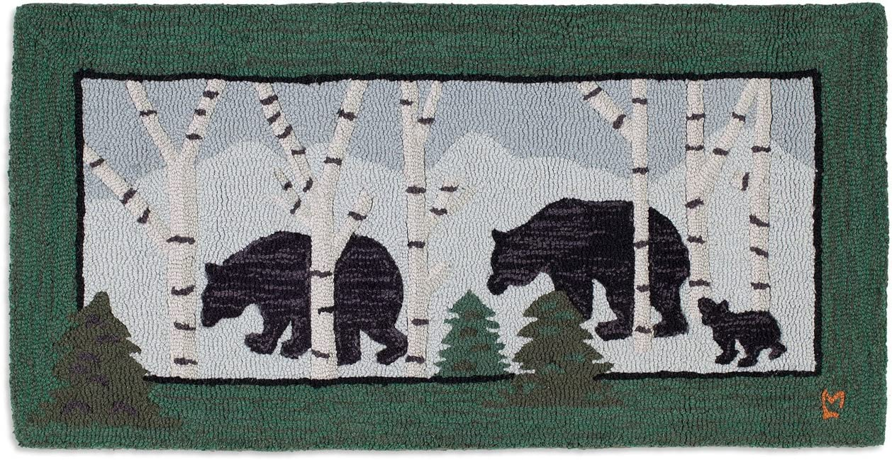 Chandler 4 Corners Artist-Designed Three Bears Hand-Hooked Wool Accent Rug 2 x 4