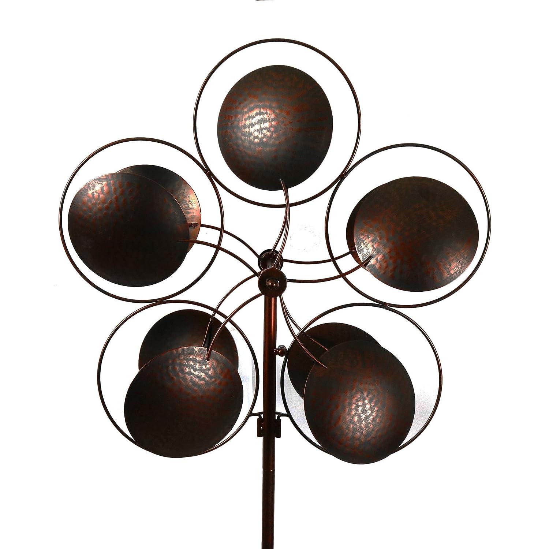 Bronzed Inverse Circles Wind Garden Spinner
