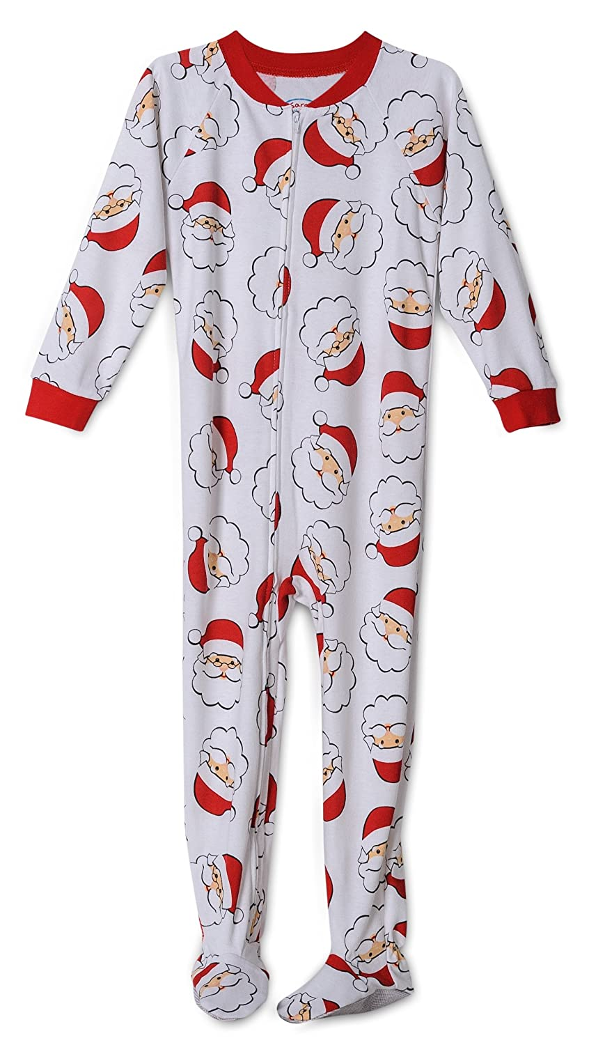 Santa Claus Print Footed Onesie Christmas Pajama Toddlers Size 4T
