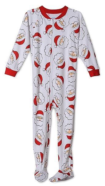5e3bdaa41641 Amazon.com  Santa Claus Print Footed Onesie Christmas Pajama ...