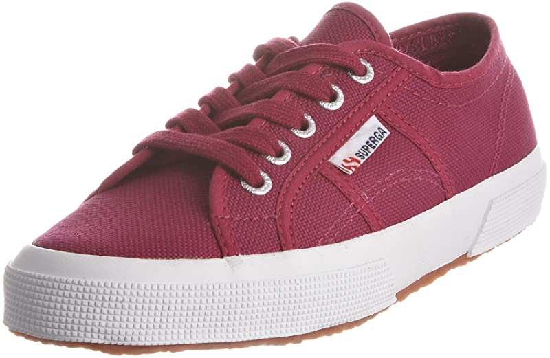 Superga 2750 Cotu Classic Sneakers Low-Top Unisex Damen Herren Weinrot (Boysenberry)