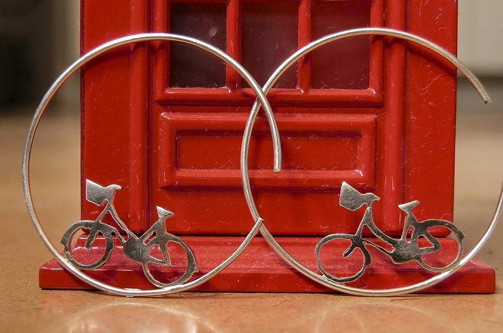 Aros bicicleta, pendientes bici clásica: Amazon.es: Handmade