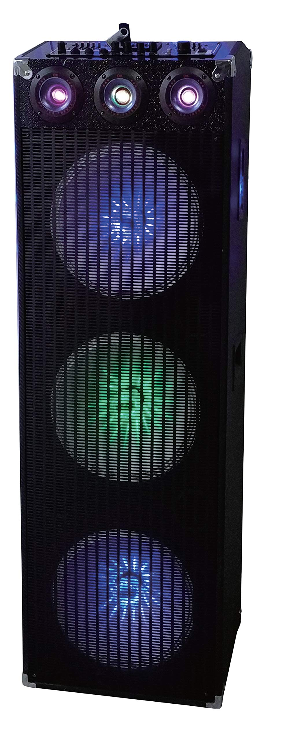 QFX Professional Bluetooth PA Cabinet Speaker with Built-in Amplifier and Three 12'' Woofers (SBX-412305)