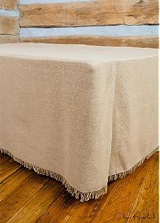 Deluxe Burlap Natural Tan Queen Bed Skirt