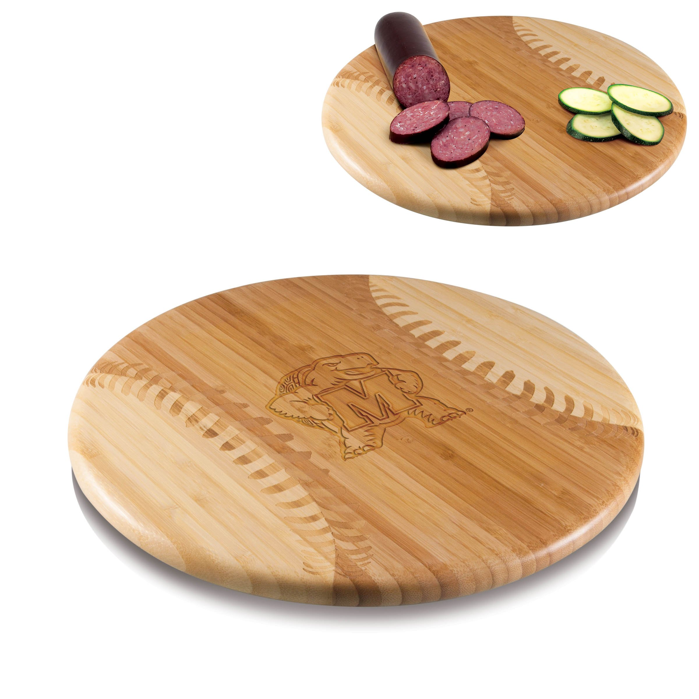 PICNIC TIME NCAA Maryland Terps Homerun! Bamboo Cutting Board with Team Logo, 12-Inch by PICNIC TIME (Image #2)