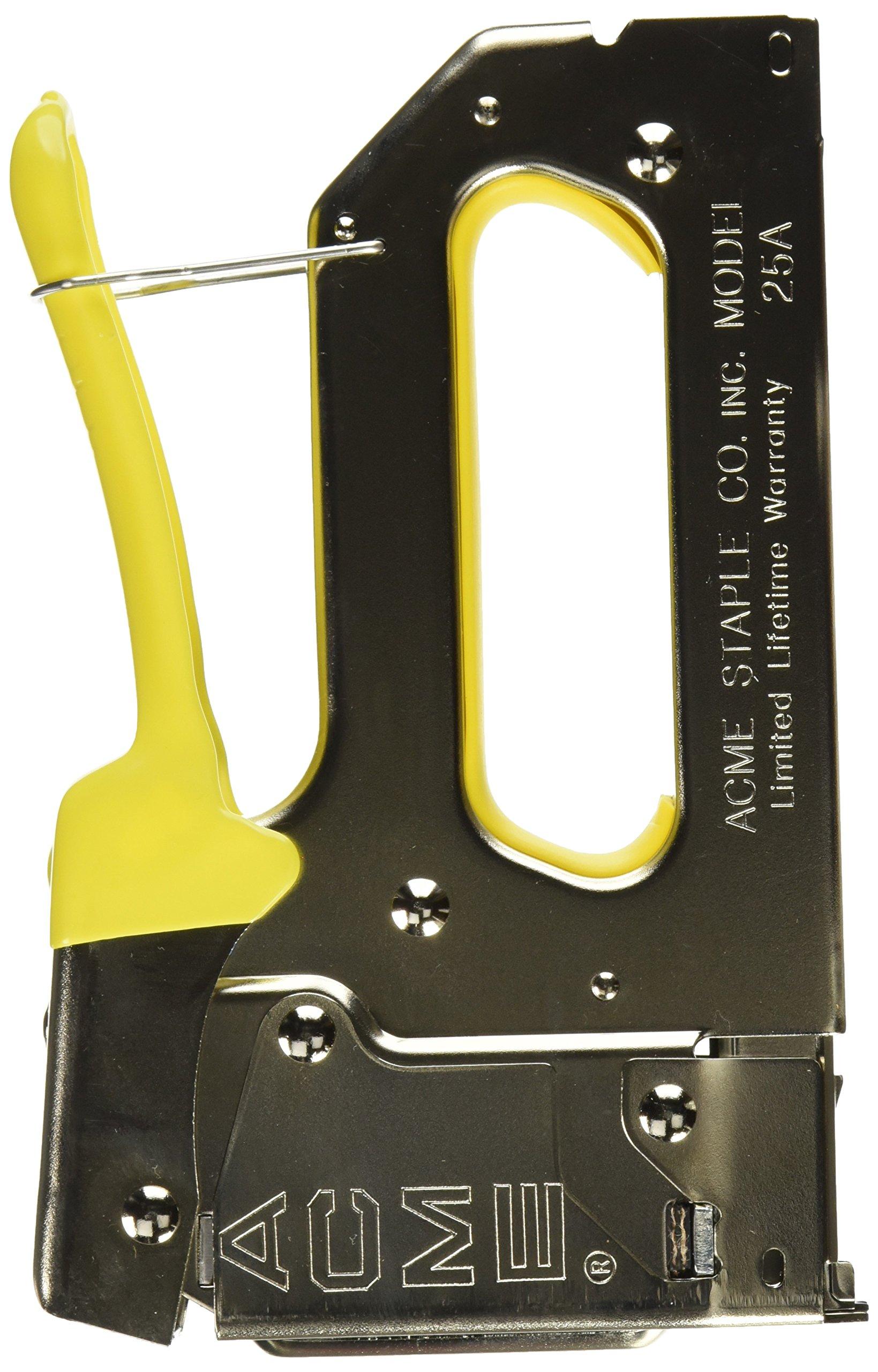Acme Staple 654025B 25A Staple Gun with Bottom-Load Magazine Crown, 1/4'' by Acme Staple