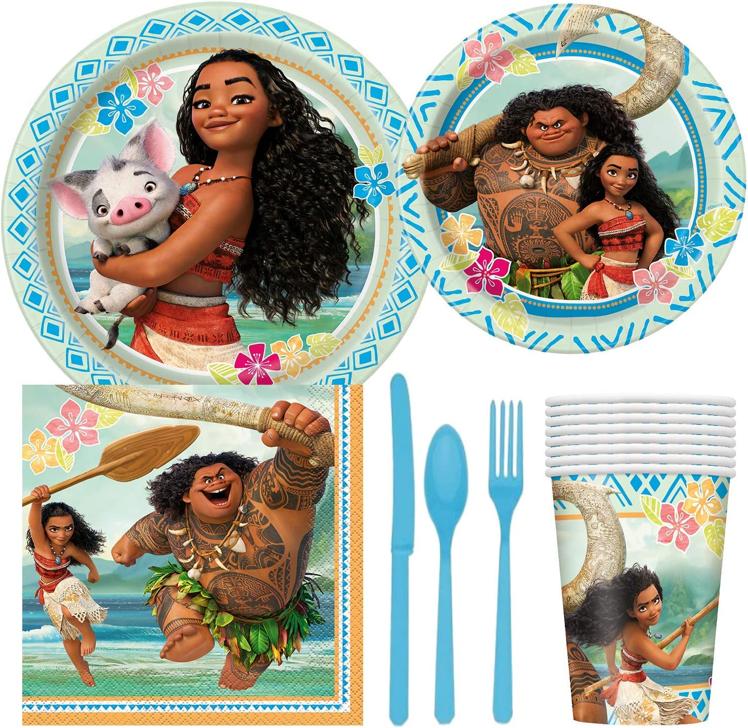 20 x Moana Napkins Kids Happy Birthday Party