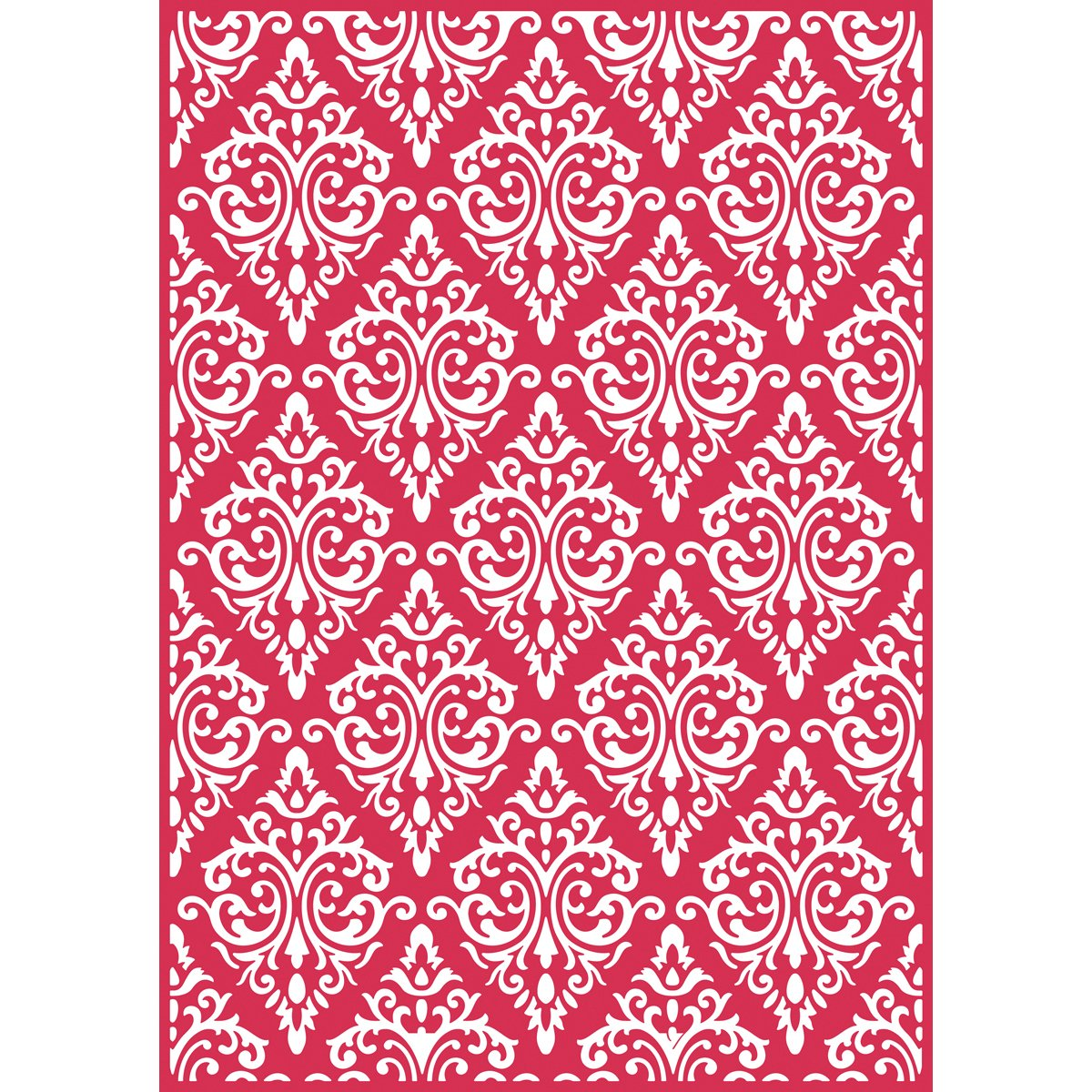 Craftwell Usa Teresa Collins Embossing Folder, Beautiful Brocade EF-BBR-051TU