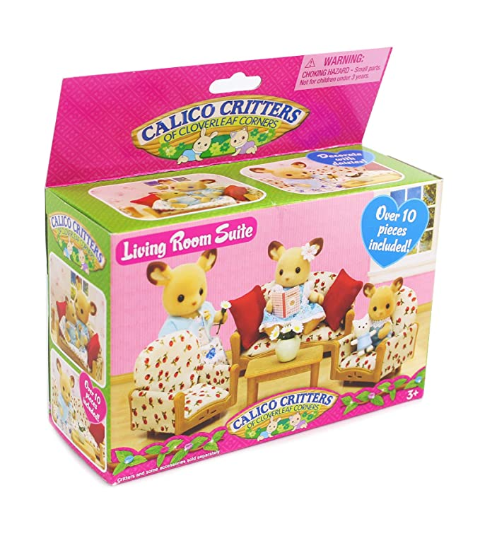 Amazon.com: Calico Critters Buckly Deer Family and Living Room Set ...