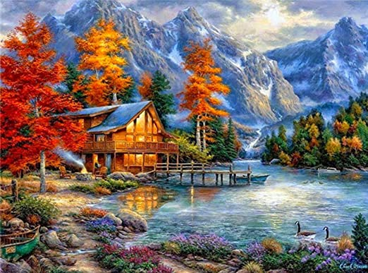 Full Drill Landscape Arts 5D Diamond Painting Kits Cross Stitch Embroidery Decor