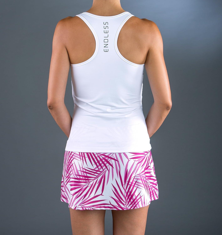 Endless Infinity Palms Top de Tenis, Mujer, Blanco, M: Amazon.es ...