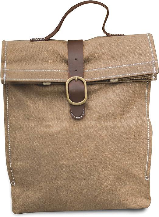 C--BRN Classic Equine Horse Tack 600D Lunch Bag W// Bottle Holder Brown