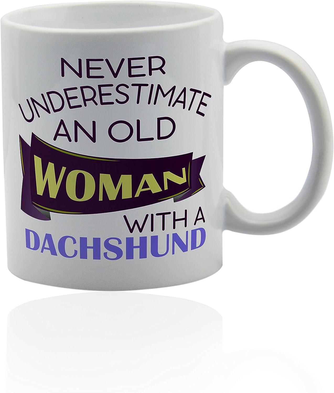 Dachshund white ceramic mug for coffee or tea 11 oz. Gift cup.