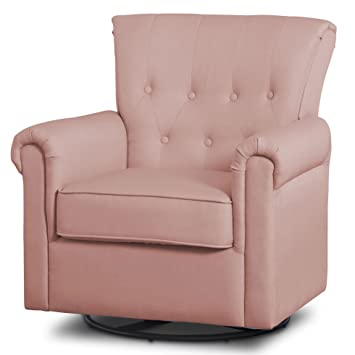 Amazon.com : Delta Children Harper Glider Swivel Rocker Chair, Blush ...