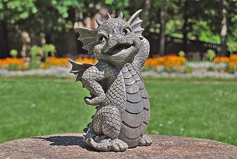 Figura de dragón de jardín Pretty Dragón figura de jardín: Amazon.es: Jardín