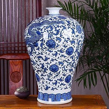 Wsxa2 Fleur Verte Porcelaine Sur Plancher Du Salon Grand
