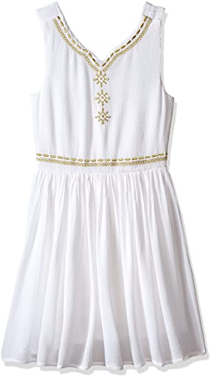 82211ad7b2d Amazon.com  Bonnie Jean Little Girls  Sleeveless Cotton Gauze ...